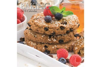 Baking 2019 Premium Square Wall Calendar 16 Months New Year Christmas Decor Gift