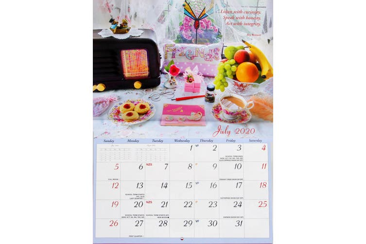 Friendships 2020 Rectangle Wall Calendar 14 Months New Year Christmas Decor Gift