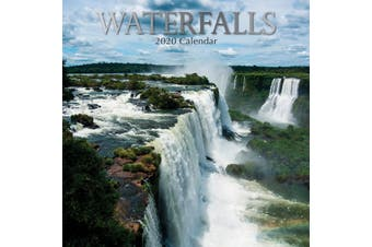 Waterfalls - 2020 Premium Square Wall Calendar 16 Month New Year Xmas Decor Gift