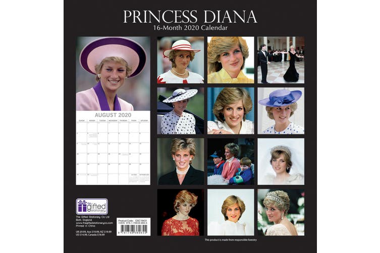 Princess Diana - 2020 Premium Square Wall Calendar 16 Months New Year Xmas Gift