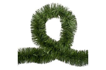 5x 2.5m Christmas Tinsel Xmas Garland Sparkly Snowflake Party Natural Home Décor - Pine Green