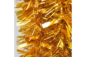 5x 2.5m Christmas Tinsel Xmas Garland Sparkly Snowflake Party Natural Home Décor - Thick Gold