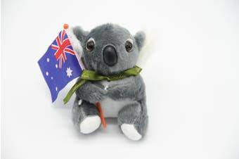 3x Australian Souvenir Soft Plush Toy Koala Kangaroo Australia Animals w Flag - Koala w Flag