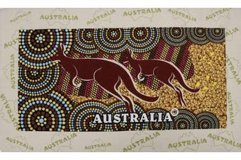 New Cotton Australia Kitchen Tea Towels Linen Teatowels Dish Cloth Souvenir Gift - Aboriginal Kangaroo A