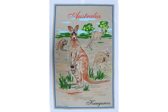 New Cotton Australia Kitchen Tea Towels Linen Teatowels Dish Cloth Souvenir Gift - Australia Kangaroos