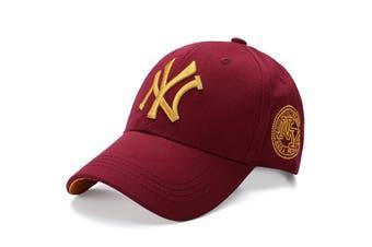 NEW Unisex New York NY Yankees Baseball Mens Women Hat Sport Snapback Cap Cotton - Burgundy