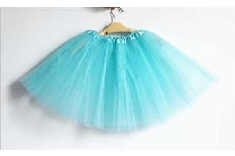 New Kids Tutu Skirt Baby Princess Dressup Party Girls Costume Ballet Dance Wear - Aqua (Size: Kids)