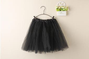 New Kids Tutu Skirt Baby Princess Dressup Party Girls Costume Ballet Dance Wear - Black (Size: Kids)