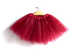 New Kids Tutu Skirt Baby Princess Dressup Party Girls Costume Ballet Dance Wear - Burgundy (Size: Kids)