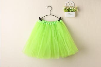 New Kids Tutu Skirt Baby Princess Dressup Party Girls Costume Ballet Dance Wear - Neon Green (Size: Kids)