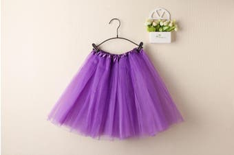 New Kids Tutu Skirt Baby Princess Dressup Party Girls Costume Ballet Dance Wear - Purple (Size: Kids)