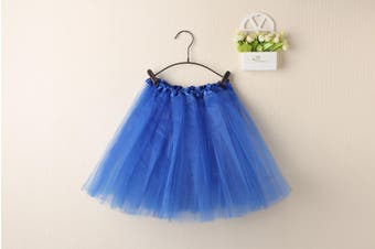 New Kids Tutu Skirt Baby Princess Dressup Party Girls Costume Ballet Dance Wear - Royal Blue (Size: Kids)