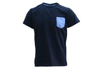 100% Cotton Adults Mens Basic Short Sleeve Crew Neck Tees Casual T-Shirt Tops - Navy - Navy