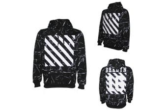 New Classic Unisex Adult Hoodie Pullover Casual Men's Sports Jumper White Black - Black - Black