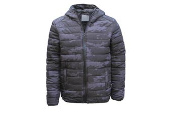 New Men's Windproof Water Resistant Lightweight Puffy Puffer Coat Quilted Jacket - 0