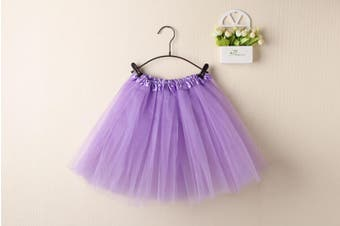 New Adults Tulle Tutu Skirt Dressup Party Costume Ballet Womens Girls Dance Wear - Light Purple (Size:Adults)