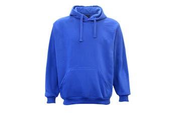 Adult Unisex Men's Plain Basic Pullover Hoodie Sweater Sweatshirt Jumper XS-5XL - Royal Blue - Royal Blue