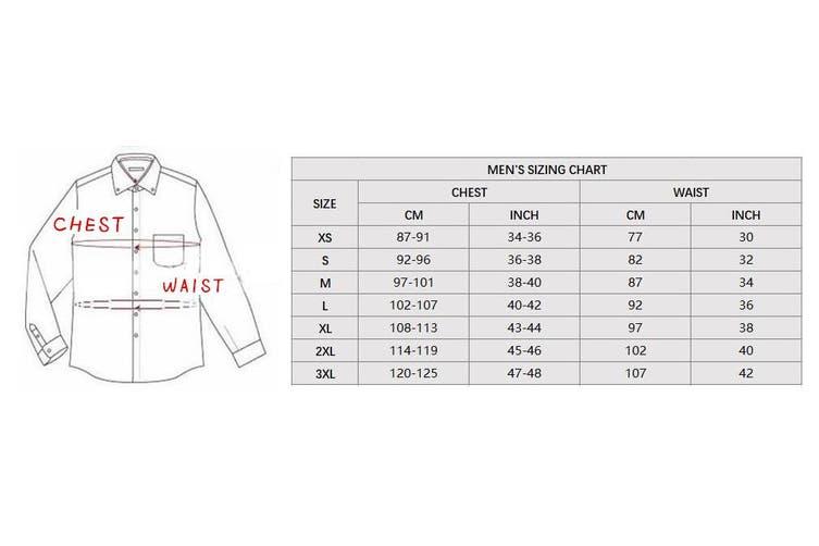 New Adults Australia Day Zip Up Hoodie Jacket w Flag Souvenir Jumper Sports Coat - Navy (Size:L)