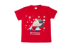 New Kids Christmas Xmas T Shirt Tee Tops 100% Cotton Boys Girls Gift Red White - Santa On Motor (Size:12/XL (For age 10-14))