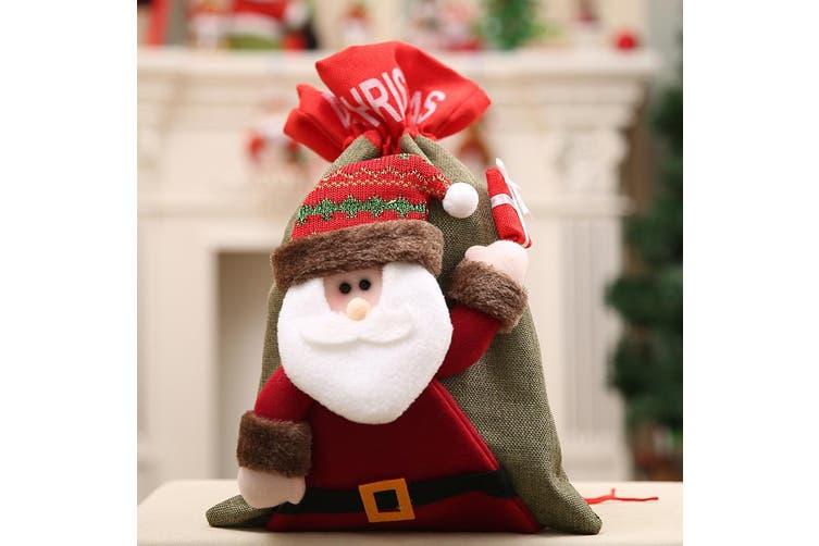 New Christmas Large Jumbo Felt Santa Sack Children Xmas Gifts Candy Stocking Bag - Santa (41x28cm)