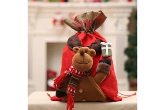New Christmas Large Jumbo Felt Santa Sack Children Xmas Gifts Candy Stocking Bag - Reindeer (56x35cm)