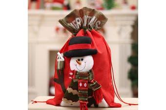 New Christmas Large Jumbo Felt Santa Sack Children Xmas Gifts Candy Stocking Bag - Snowman (56x35cm)