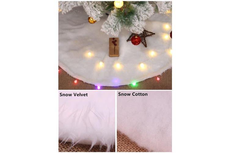 "60/78/90/122cm Christmas Snow Plush Tree Skirt Xmas Decor Base Floor Mat Cover (Size:60cm (23.6""))"