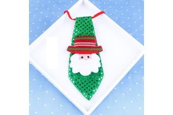 Christmas LED LightUp Flashing Sequins Tie Santa Snowman Reindeer Xmas Kids Gift - Santa