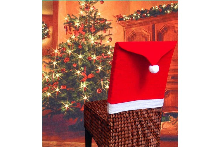 Christmas Chair Covers Tablecloth Runner Decoration Xmas Dinner Party Santa Gift - 10x Chair Covers