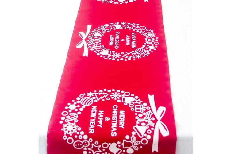 Christmas Burlap Hessian Roll Table Runner Home Dining Party Xmas Decor 28x270cm - Red - Christmas Wreaths