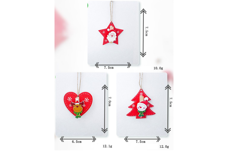 Christmas Wooden Clips Pegs Tree Hanging Ornaments Card Holder Xmas Décor Craft