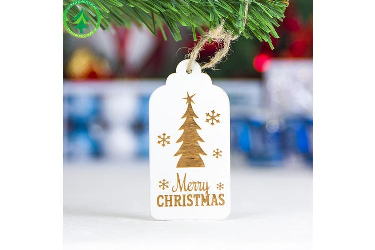 11x Christmas Wooden Sign Plaque Tree Pendants Xmas Hanging Ornaments Home Decor