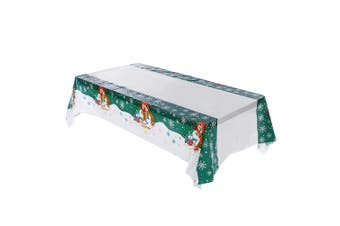 New Christmas Branch Table Cover Cloth Wedding Xmas Dinner Party Home Decoration - Snowman
