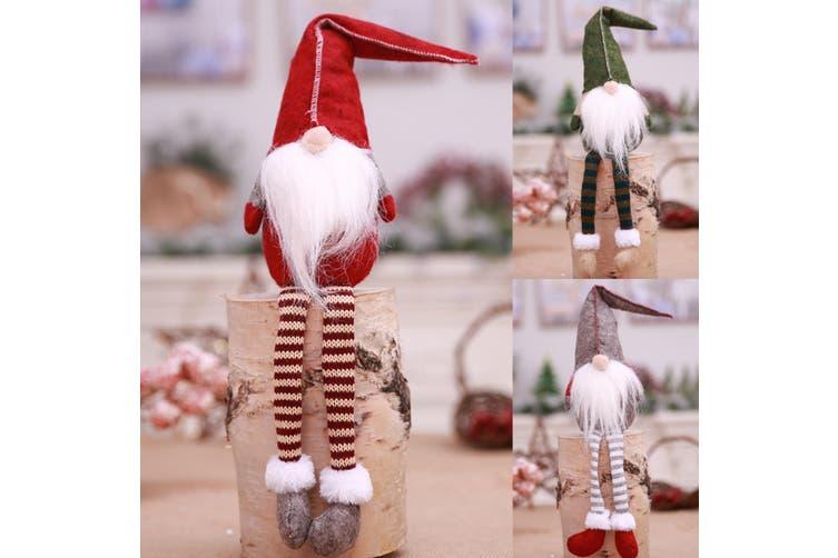 3x Christmas Faceless Doll Santa Long Leg Plush Ornament Xmas Décor Kid Toy Gift