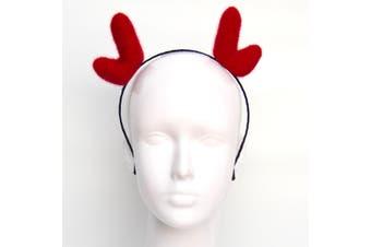 Christmas Xmas Headband Hat Costume Hair Clip Bear Snowman Gift Adult Kids Toys - Reindeer Antlers (Red_B)