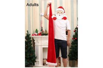 Christmas Unisex Adults Kids Novelty Hat Xmas Party Cap Santa Costume Dress Up - Long Santa Hat (Adults)