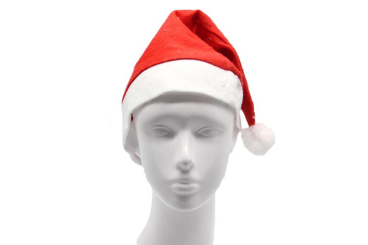 Christmas Unisex Adults Kids Novelty Hat Xmas Party Cap Santa Costume Dress Up - Santa Hat (Adults)