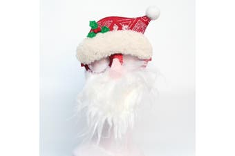 Christmas Glasses Xmas Party Accessories Photo Booth Props Costume Fancy Dress - Santa Hat w Red Nose Beard