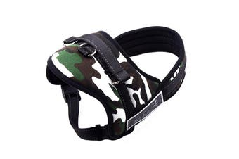 New Large Dog Adjustable Harness Support Pet Training Control Safety Hand Strap - White Camo - White Camo