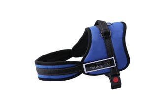 New Large Dog Adjustable Harness Support Pet Training Control Safety Hand Strap - Blue - Blue