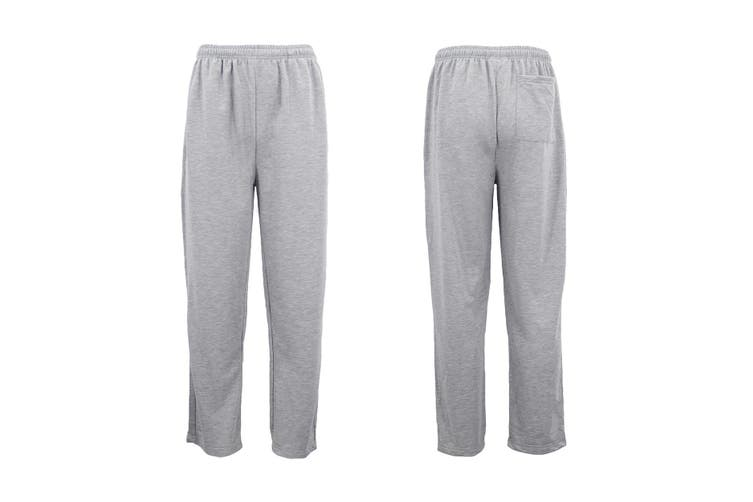 Mens Regular Fit Drawstring Sweat Pants Track Suit Sports Casual Trousers Jogger - Light Grey (Size:S)