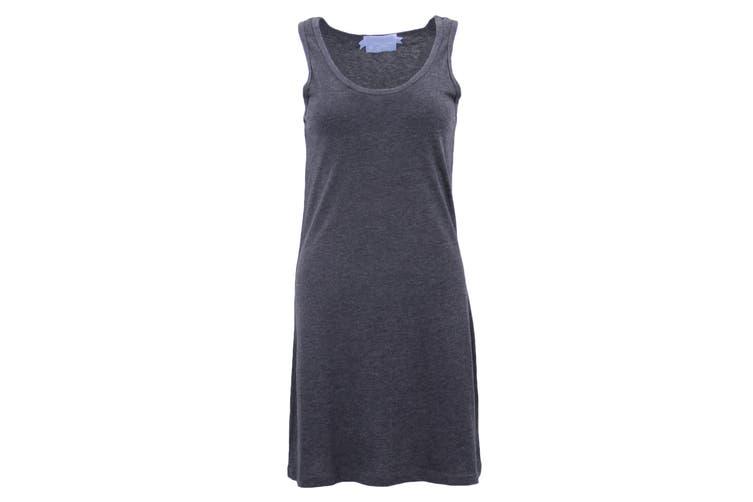 Womens Sleeveless Blouse Singlet Vest Tank Dress Tops T Shirt Summer Casual Wear - Navy (Size:M)