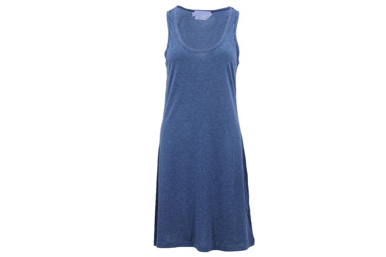 Womens Sleeveless Blouse Singlet Vest Tank Dress Tops T Shirt Summer Casual Wear - Blue (Size:S)