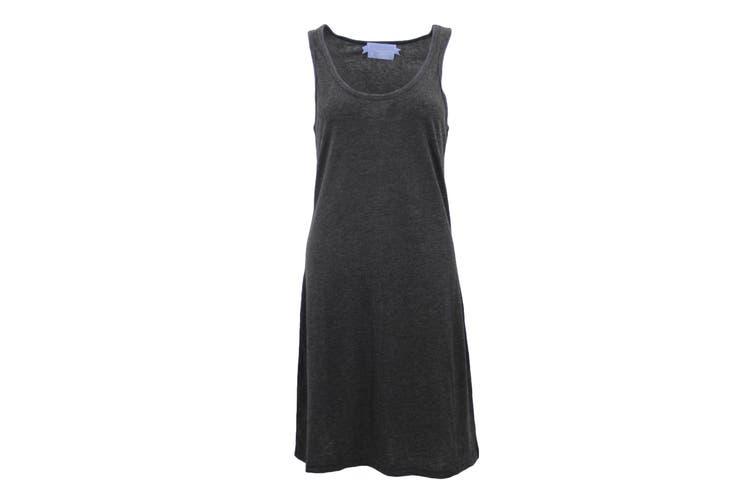 Womens Sleeveless Blouse Singlet Vest Tank Dress Tops T Shirt Summer Casual Wear - Dark Grey (Size:S)