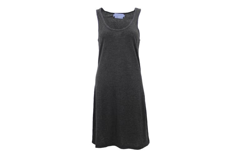 Womens Sleeveless Blouse Singlet Vest Tank Dress Tops T Shirt Summer Casual Wear - Dark Grey (Size:M)