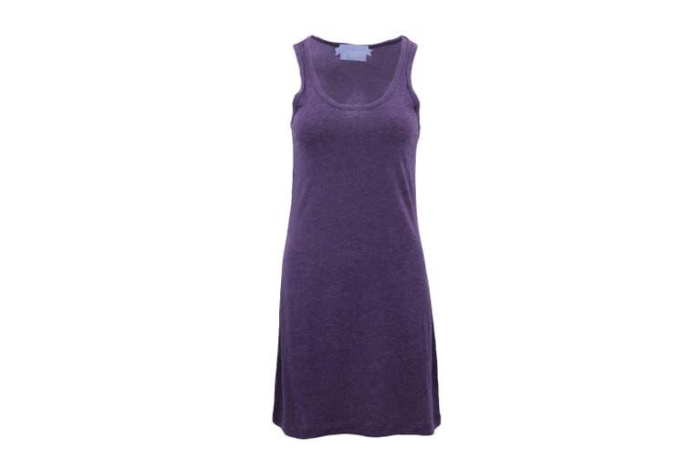 Womens Sleeveless Blouse Singlet Vest Tank Dress Tops T Shirt Summer Casual Wear - Purple (Size:S)