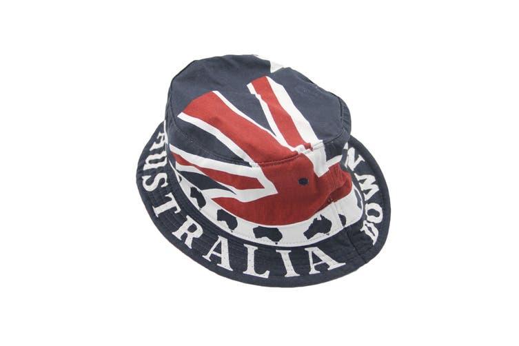 "Australia ANZAC Day Souvenir Flag Sun Protection Cotton Bucket Hat Costume Dress - Flag_B (Size:58cm (22.8""))"