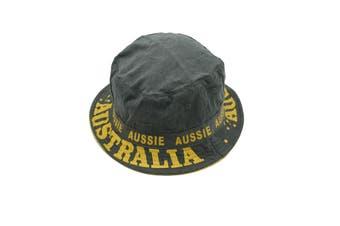 Australia ANZAC Day Souvenir Flag Sun Protection Cotton Bucket Hat Costume Dress - Green - Green