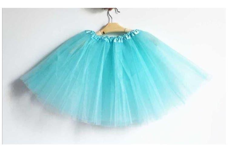 New Adults Tulle Tutu Skirt Dressup Party Costume Ballet Womens Girls Dance Wear - Aqua (Size:Kids)