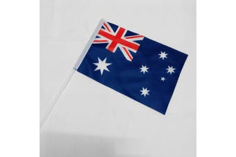 8x Australia Day Hand Held Small Wavers Aussie Australian Flags Party Souvenir